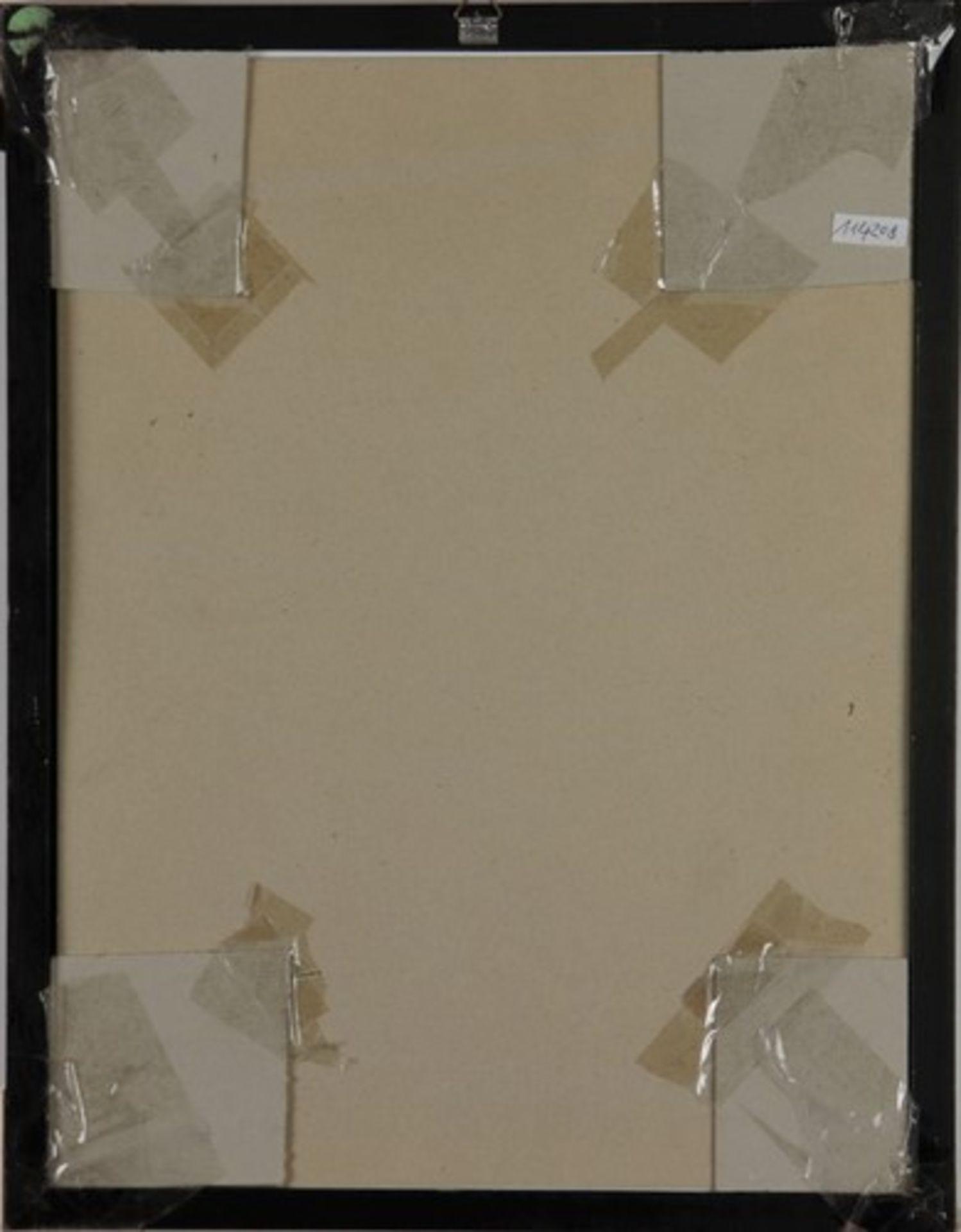 Los 1837 - HolzschnittJapan, Schriftbänder, im Hintergrund Blumengefäße mit Kirschblütenzweigen,