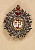 Ausländische Orden & Ehrenzeichen - Brasilien : Christus Orden _ Bruststern zum Ordenskreuz.