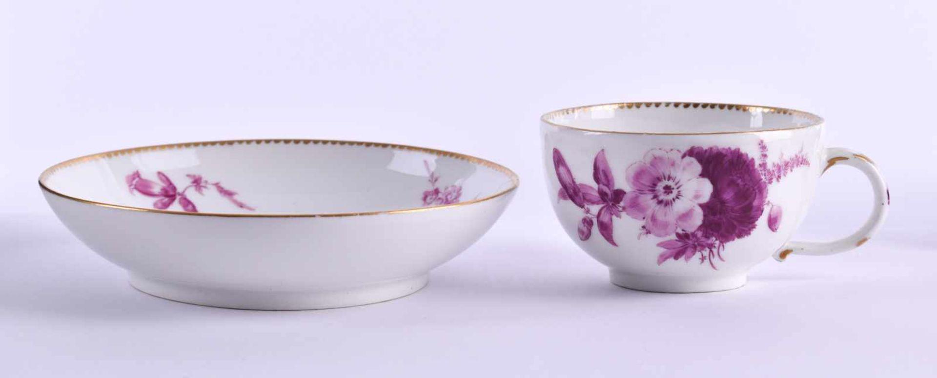 Cup & saucer Meissen 1740-80 - Bild 3 aus 7