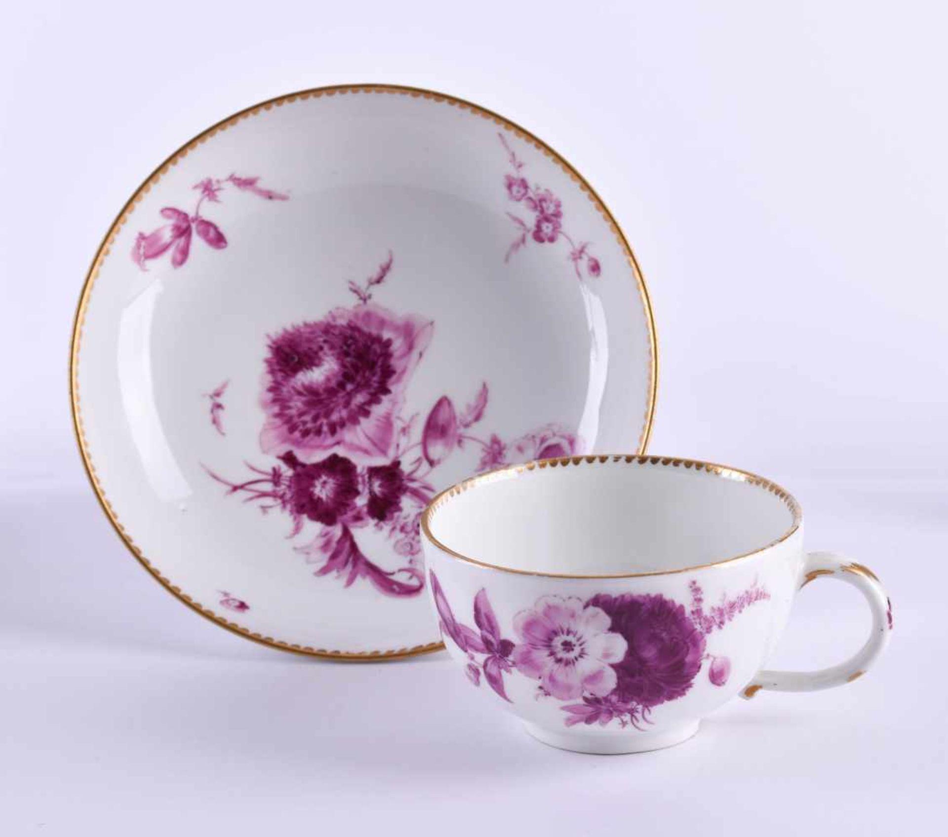 Cup & saucer Meissen 1740-80