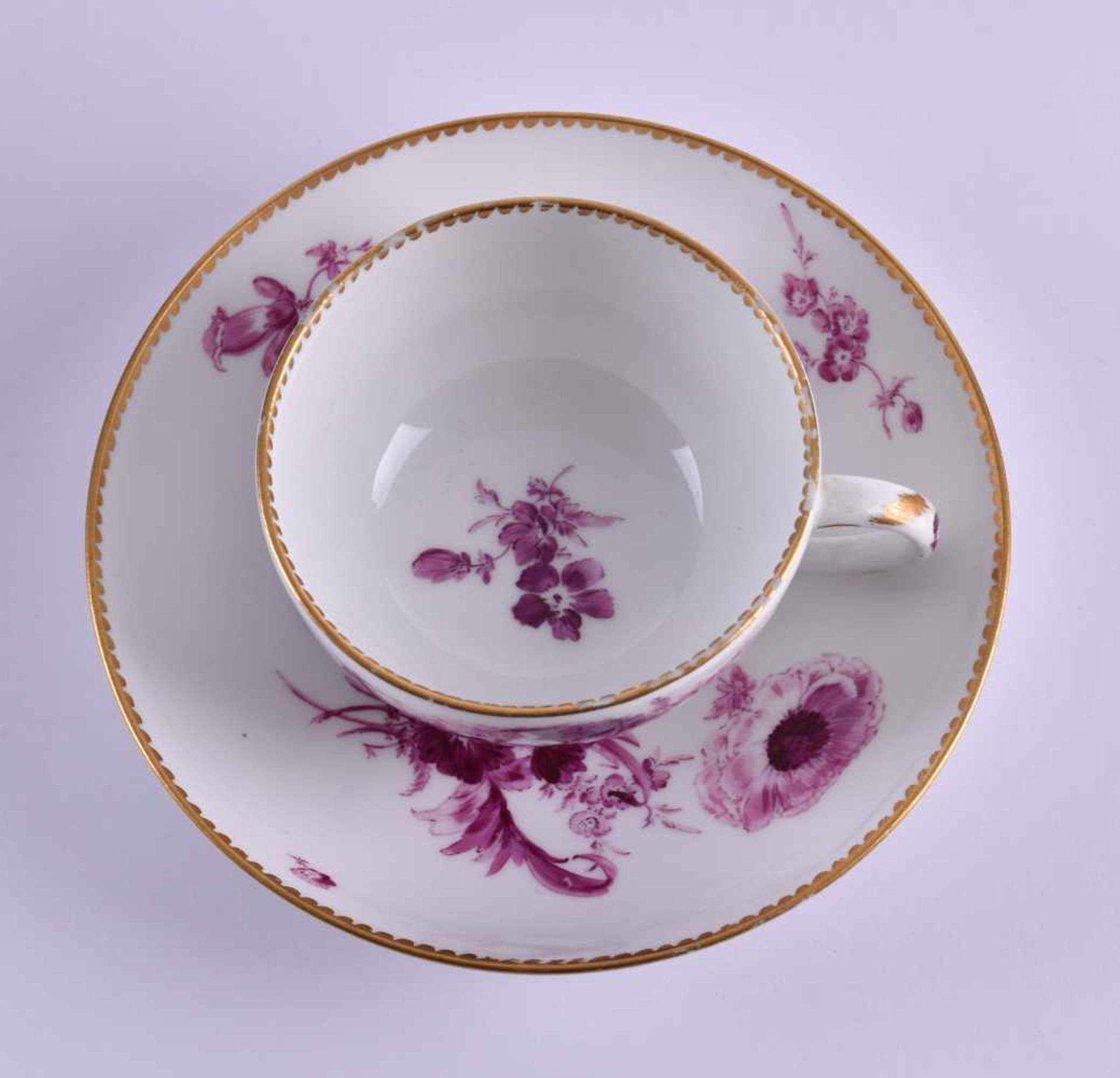 Cup & saucer Meissen 1740-80 - Bild 2 aus 7