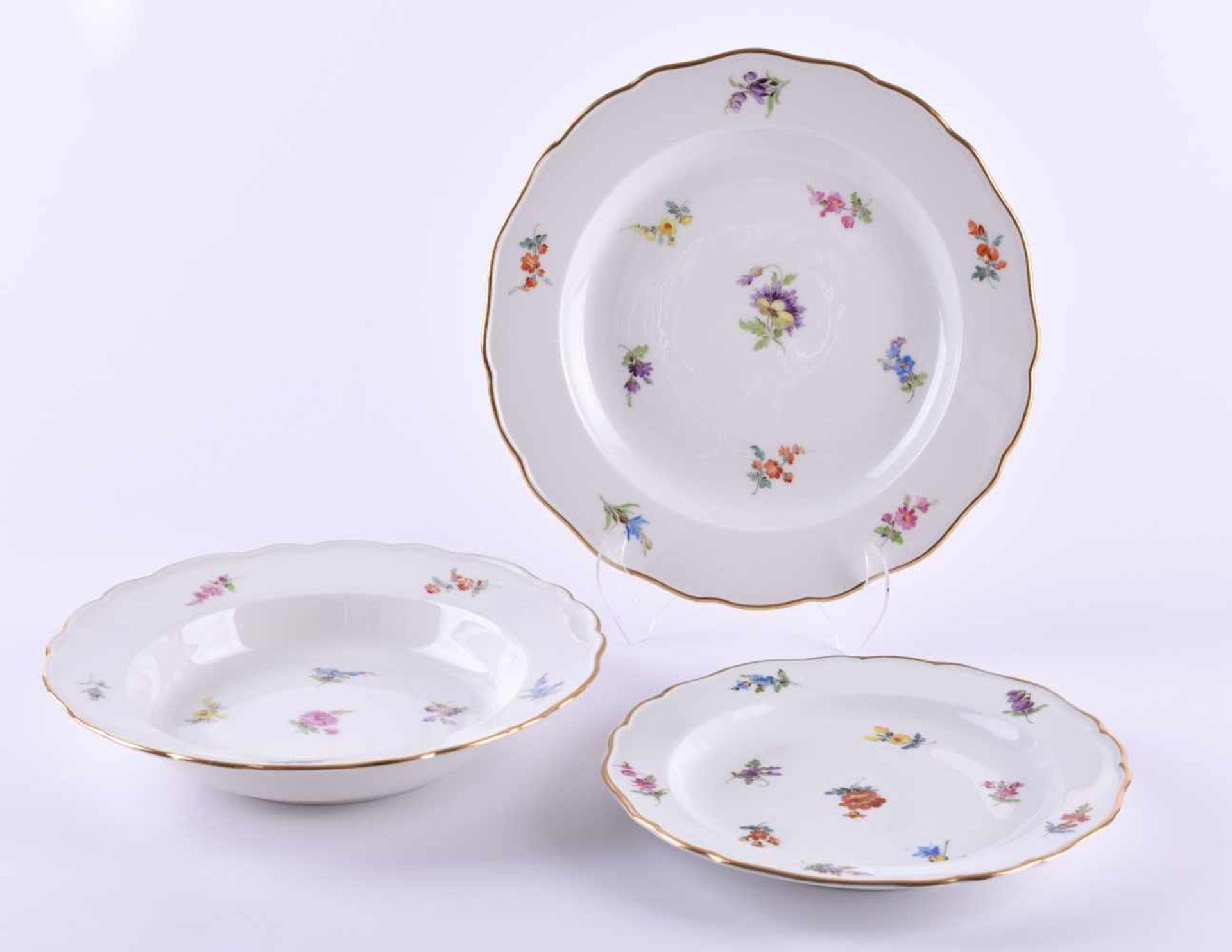Meissen A group of porcelain