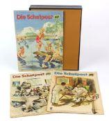 Konvolut von 24 Heften SCHULPOSTVerlag Volk und Wissen Berlin mit 1. Jahrgang 1946 Hefte 2 bis 11,