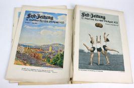 Festzeitung 15. Deutsches Turnfestst Stuttagart 193315 Hefte, Nummer 1 - 15, Juli 1932 - Oktober