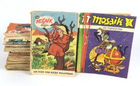 Posten Mosaik - HefteDigedags von Hannes Hegen, Verlag Junge Welt, dabei 46 Stücke ab Nr. 104 von