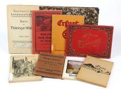 Kleine Sammlung THÜRINGEN / HARZ9 Stücke Landeskunde mit I. *Wanderungen durch das romantische