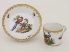 Miniatur Tasse und Untertasse / A miniature cup and saucer, Helena Wolfsohn, Dresden, Mitte 19. Jh.