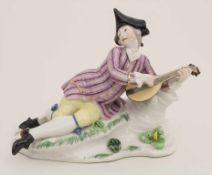 Laute spielender Schäfer / A shepherd playing on a lute, Franz Anton Bustelli, Nymphenburg, 1.