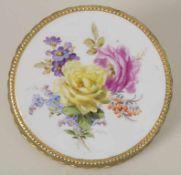 Untersetzer mit Blumenmalerei / A coaster with flowers, Meissen, 1860-1924Material: Porzellan,