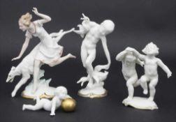 Konvolut 4 Porzellanfiguren / A set of 4 porcelain figures, Karl Tutter, HutschenreutherBestehend