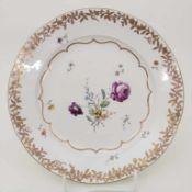 Teller / A plate, Frankenthal, um 1775