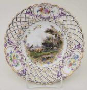 Korb-Teller / A plate, Meissen, um 1780