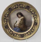 Historismus Teller 'Mignon' / A Historism plate, deutsch, um 1900