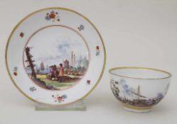 Koppchen mit Unterschale / A tea cup and saucer, Meissen, um 1735