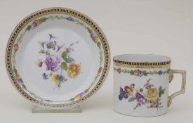 Empire Tasse mit Unterschale / A tea cup and saucer, Nyon, Schweiz, um 1800