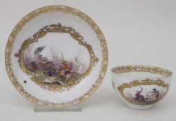 Koppchen mit Unterschale / A tea cup and saucer, Christian Friedrich Herold, Meissen, um