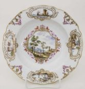 Barock Teller / A Baroque plate, Meissen, 1740-1750