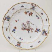 Barock Teller 'Gelber Löwe' / A plate, Meissen, 1740-1750<