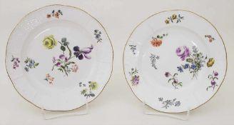 2 Teller / Two plates, Meissen, um 1760