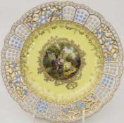 Korb-Teller / A plate, Meissen, 19. Jh.