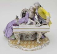 Figurengruppe 'Die Klavierstunde' / A figural group 'The piano lesson', Aelteste Volkstedt-