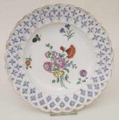 Teller / A plate, Höchst, um 1770<