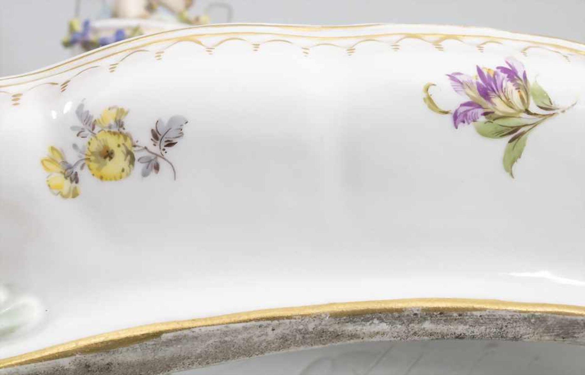 Seltene Tischuhr mit integriertem Schreibset / A rare porcelain table clock with integrated - Bild 8 aus 16