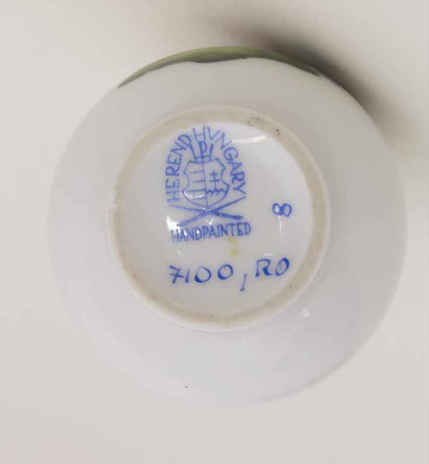 Miniatur Vase Rothschild / A miniature vase with birds, Herend, Mitte 20. Jh. - Bild 3 aus 3