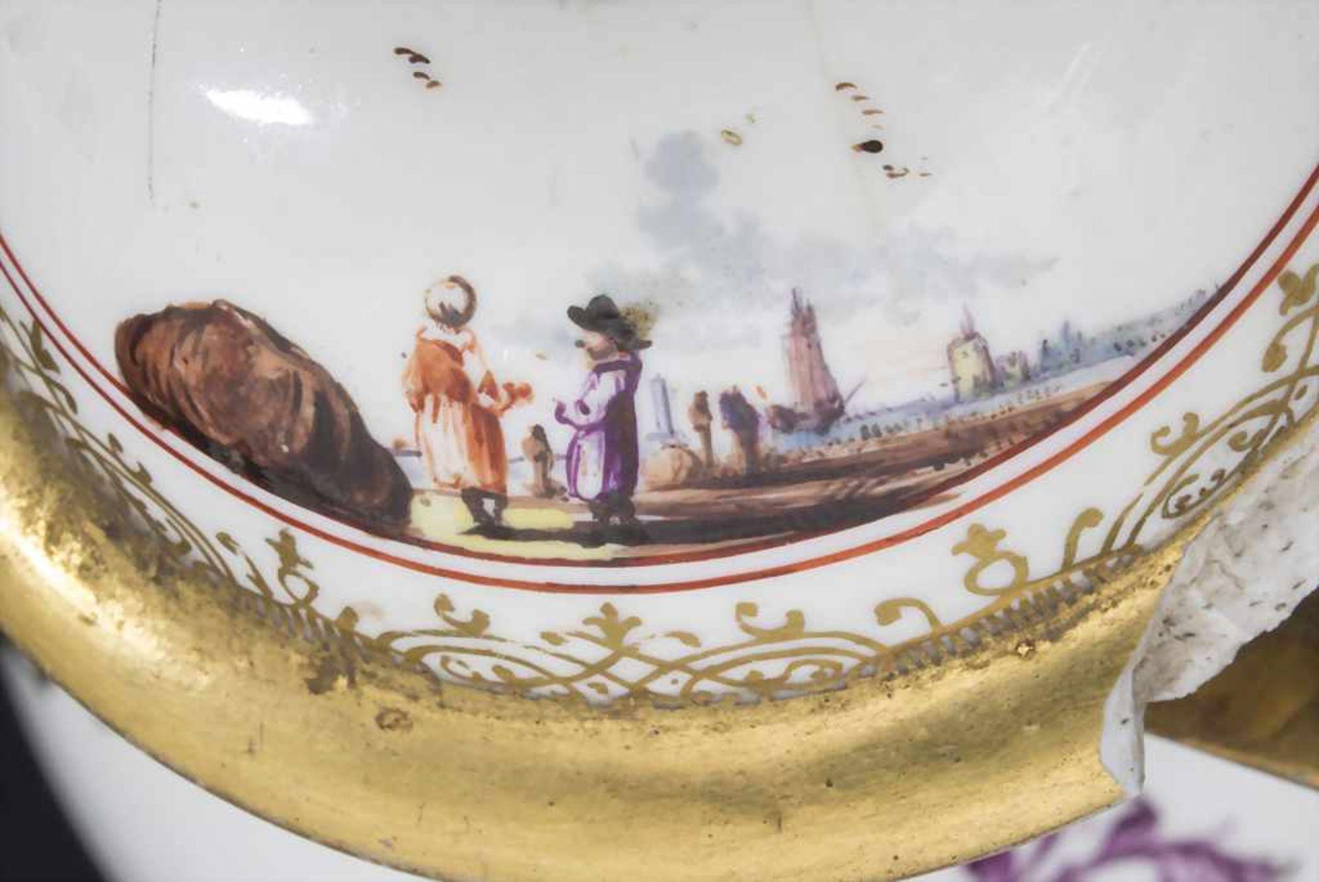 Kanne mit Kauffahrtei-Szenen / An early pot with harbour scenes, Meissen, Höroldt'sche Periode, um - Bild 8 aus 10
