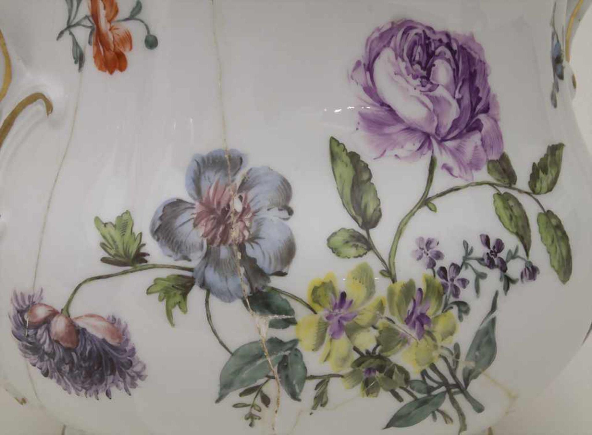 Paar frühe Cachepots mit seitlichen Handhaben / A pair of early cachepots with handles, Meissen, - Bild 10 aus 12