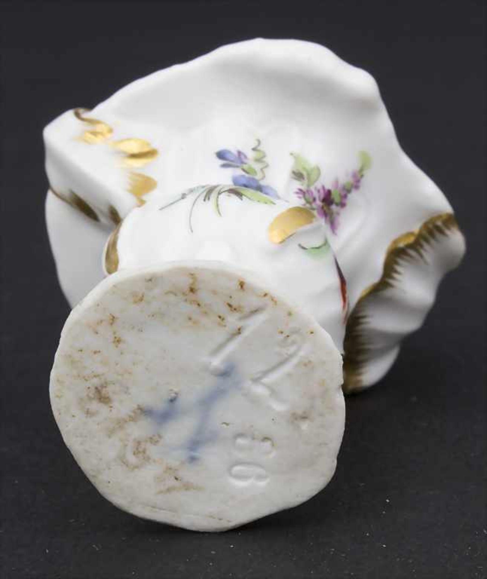 3 frühe Miniatur Vasen mit Rocaillen / A set of 3 early miniature vases with rocailles, Meissen, - Bild 9 aus 14