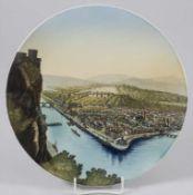 Ansichtenteller / A plate with view of Koblenz, Villeroy & Boch, Mettlach, um 1900