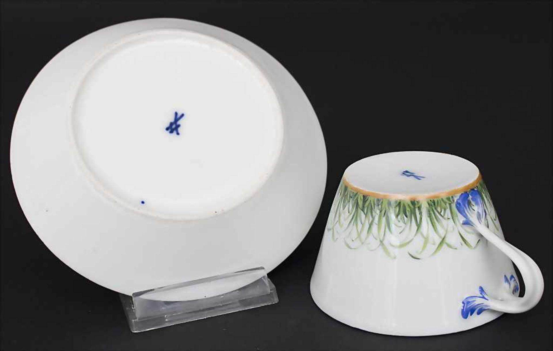 Tasse und UT mit Monogramm / A cup with saucer with monogram, Meissen, Anfang 19. Jh. - Bild 2 aus 3