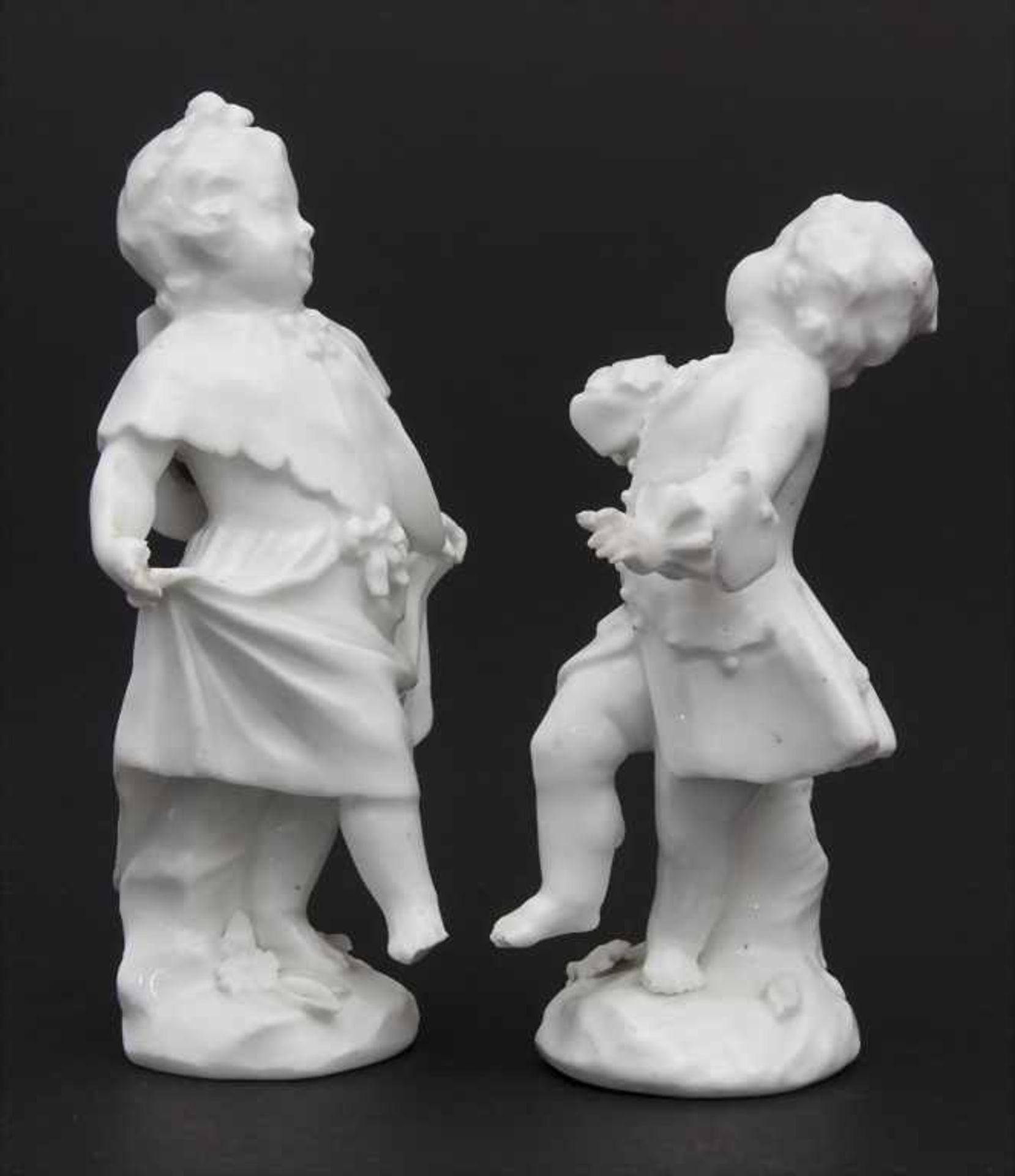2 tanzende Kinder / A dancing boy and girl, wohl Michel Victor Acier, Meissen, um 1760 - Bild 3 aus 6
