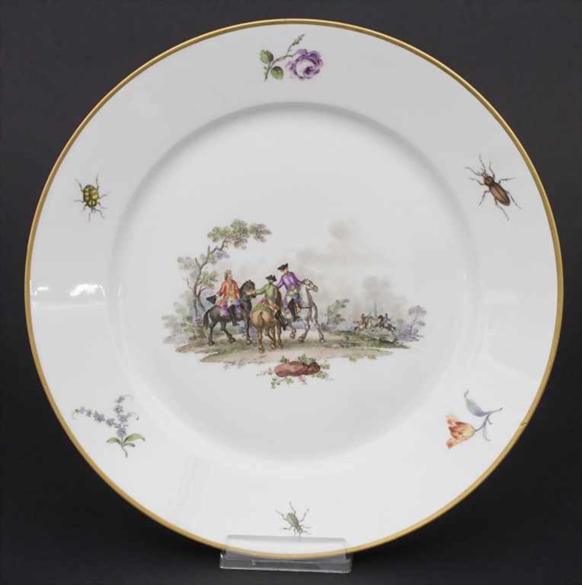 Paar Teller mit Schlachtenszenen / 2 plates with battle scenes, Sèvres, 1870 - Bild 2 aus 13