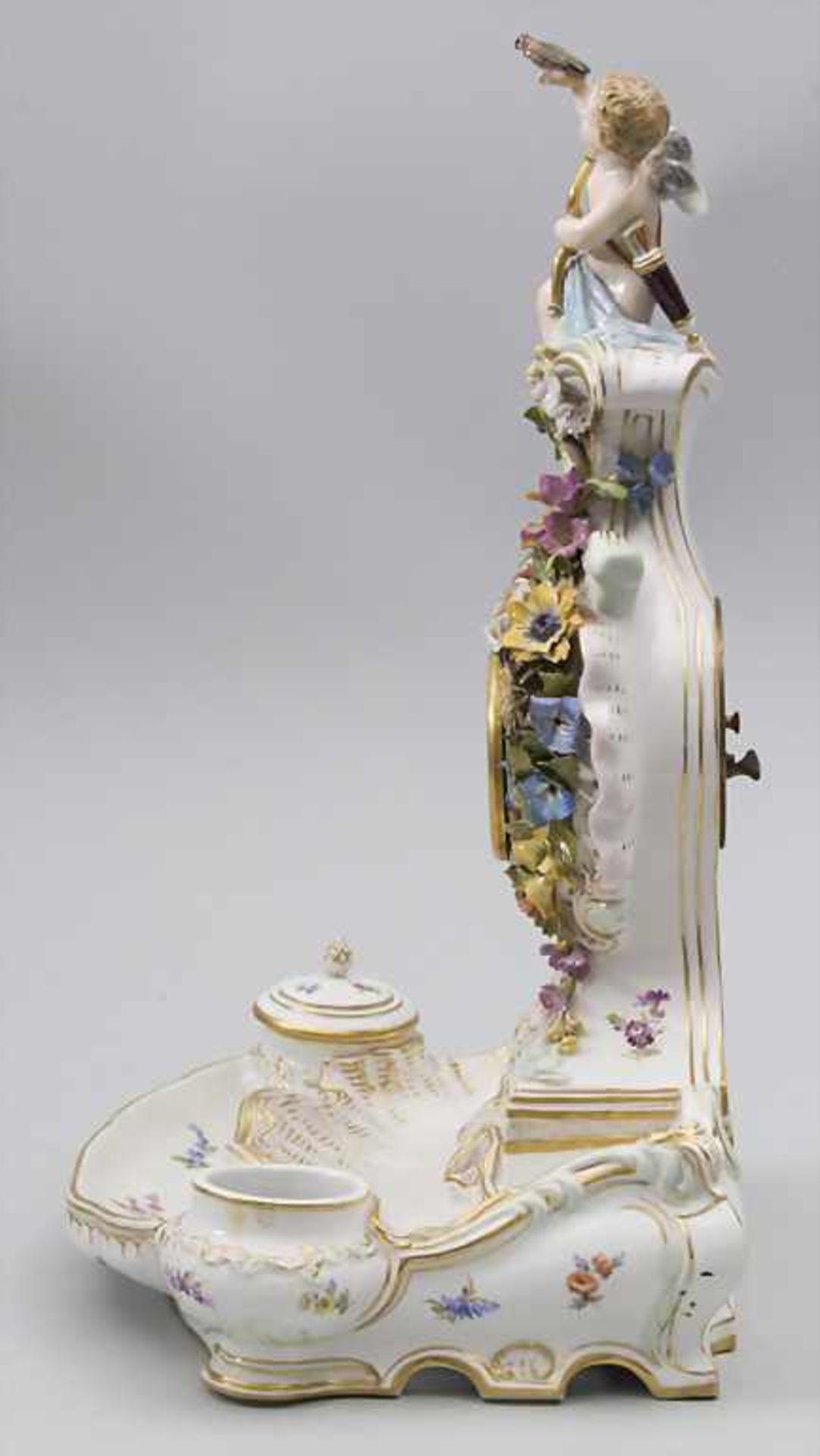 Seltene Tischuhr mit integriertem Schreibset / A rare porcelain table clock with integrated - Bild 16 aus 16