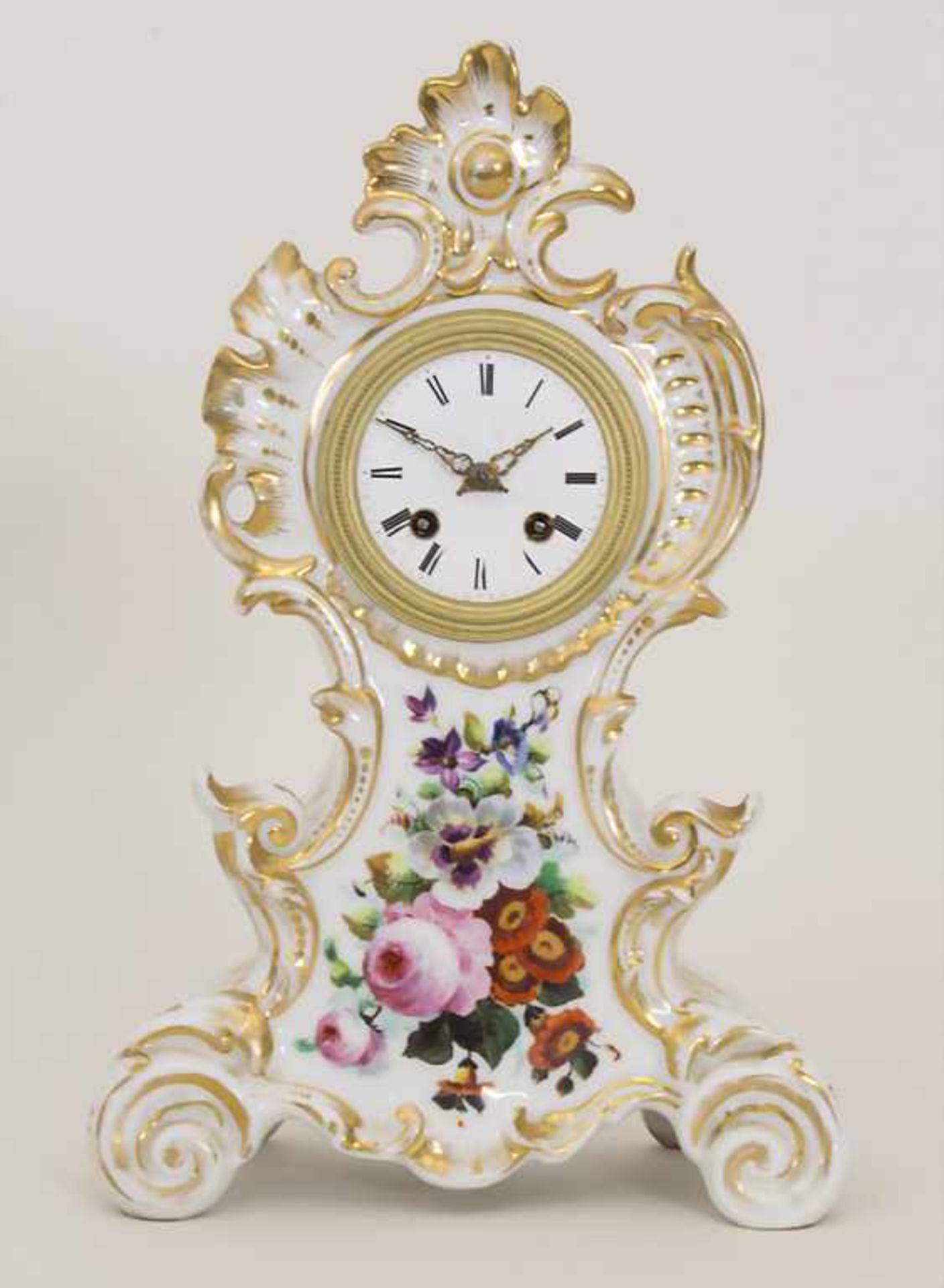 Biedermeier Kaminuhr / A Biedermeier mantel clock, Frankreich, 19. Jh.