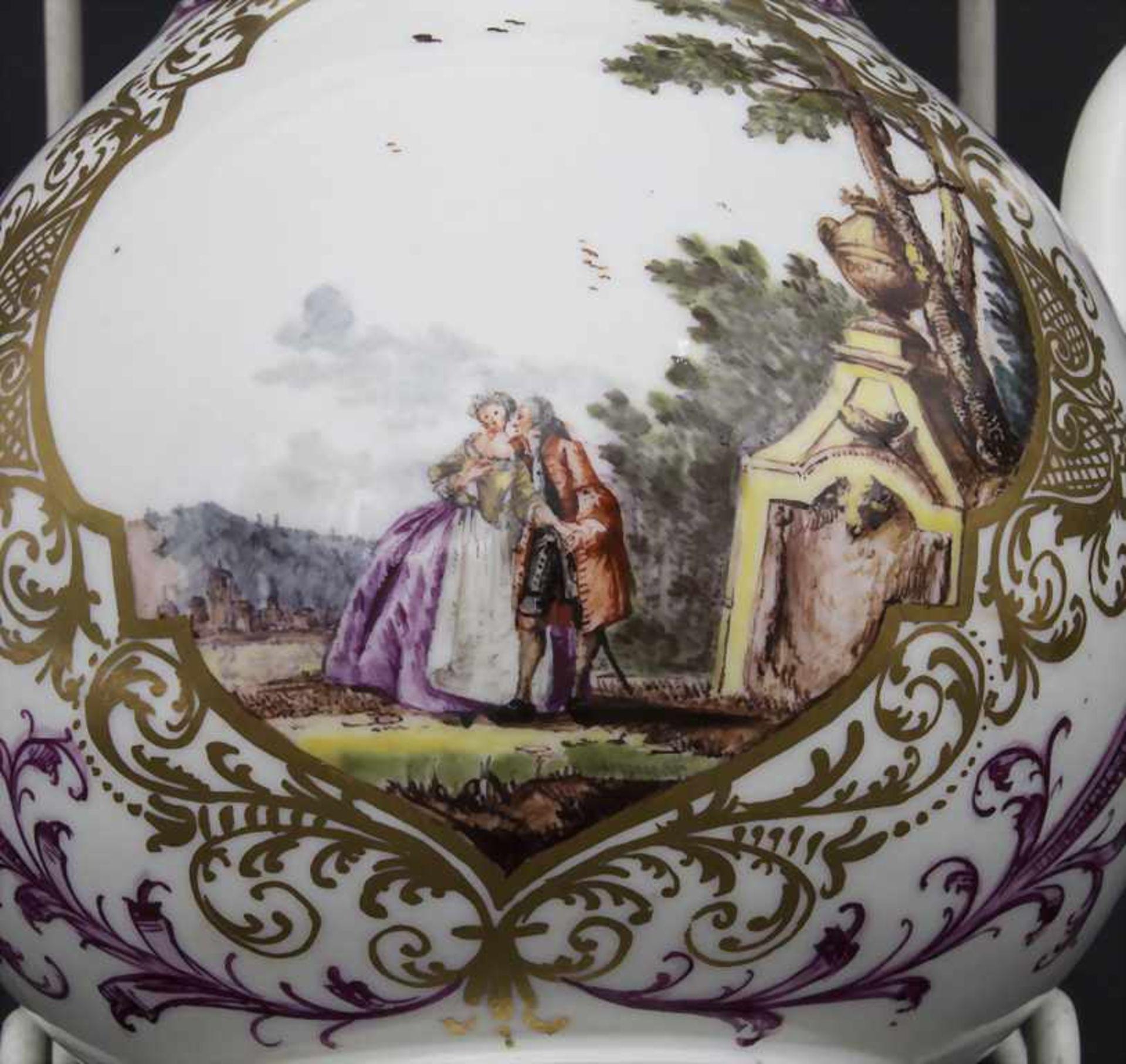 Kanne mit Kauffahrtei-Szenen / An early pot with harbour scenes, Meissen, Höroldt'sche Periode, um - Bild 6 aus 10