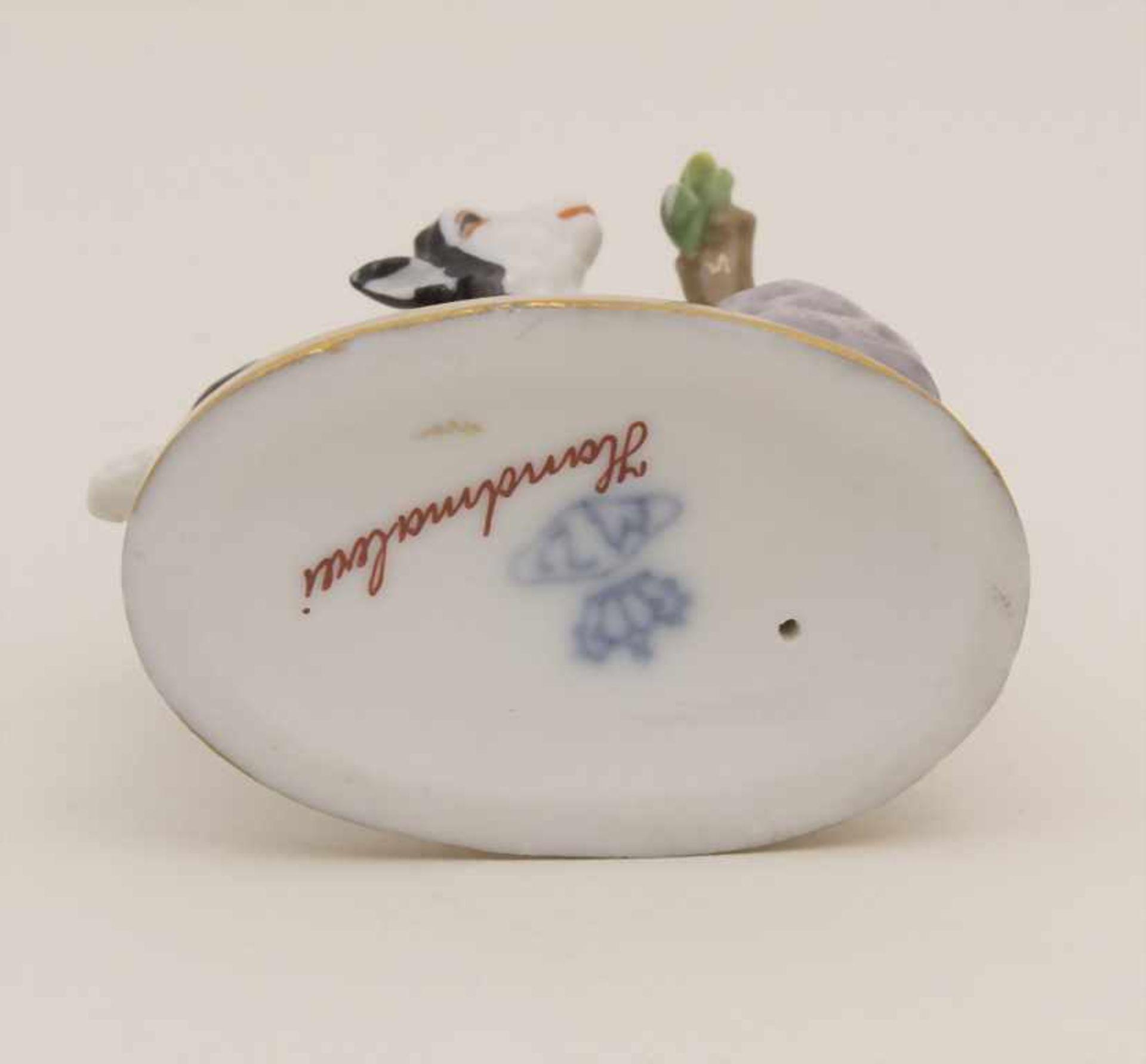 Miniaturfigur Zicklein mit Vogel / A miniature figurine of a kid with a bird, Müller & Co., - Bild 5 aus 5