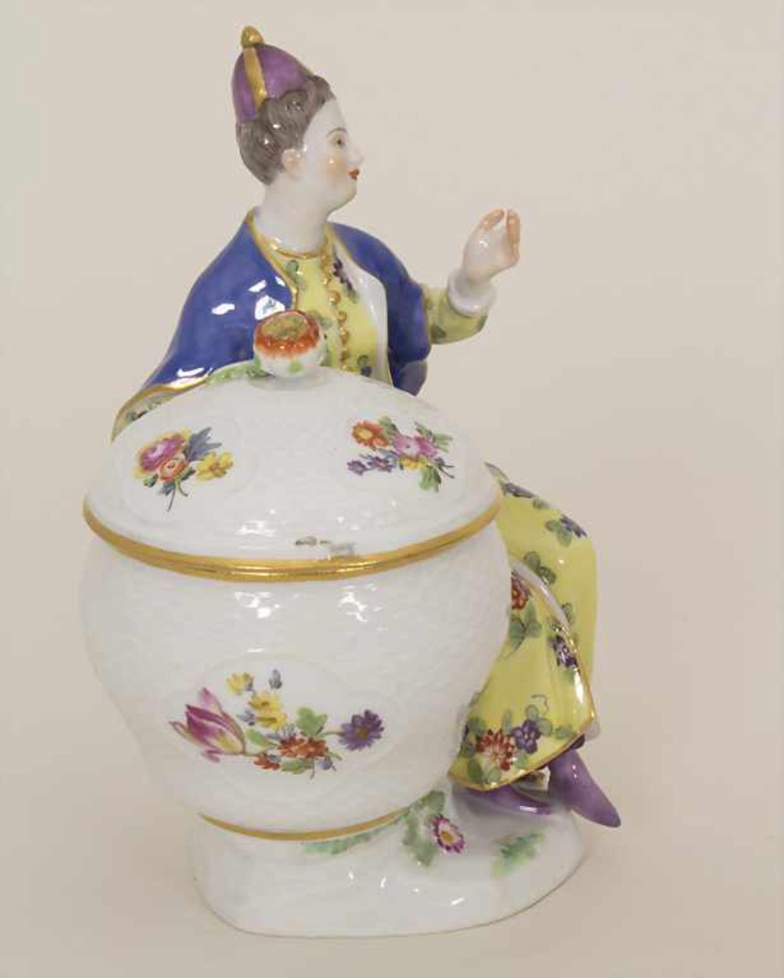 Gegenständige Figur einer Türkin mit Schale / A Turkish woman with a bowl, Meissen, Pfeiffer-Zeit, - Bild 5 aus 11