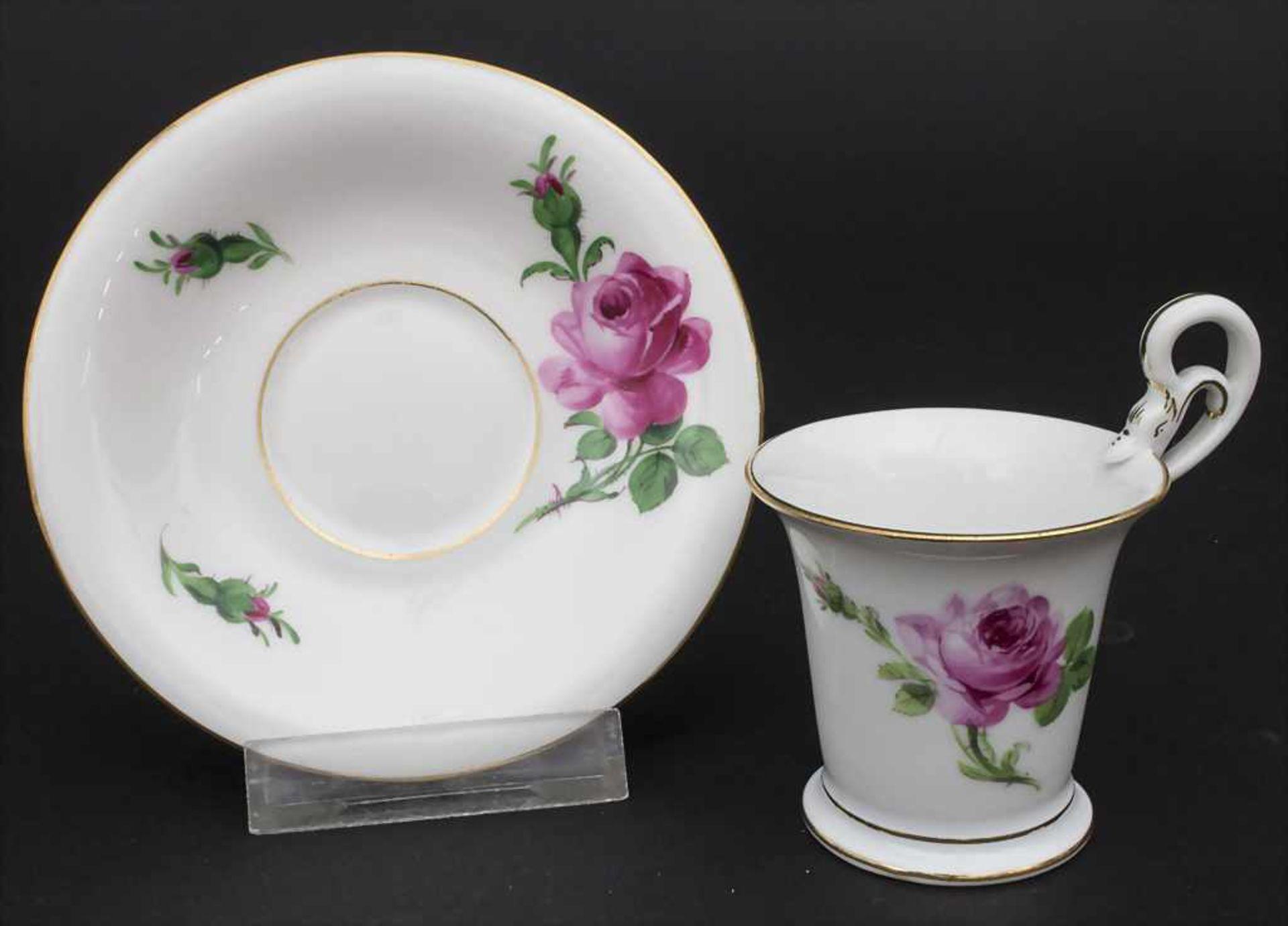 Konvolut Porzellane mit Rosendekor / A set of porcelain with roses, Meissen, 20. Jh. - Bild 6 aus 13