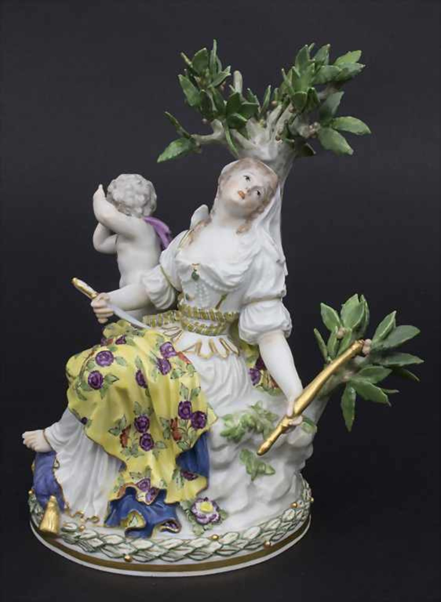 Figurengruppe 'Melpomene mit Putto' / A figural group 'Melpomene with cupid', Meissen, 19. Jh.