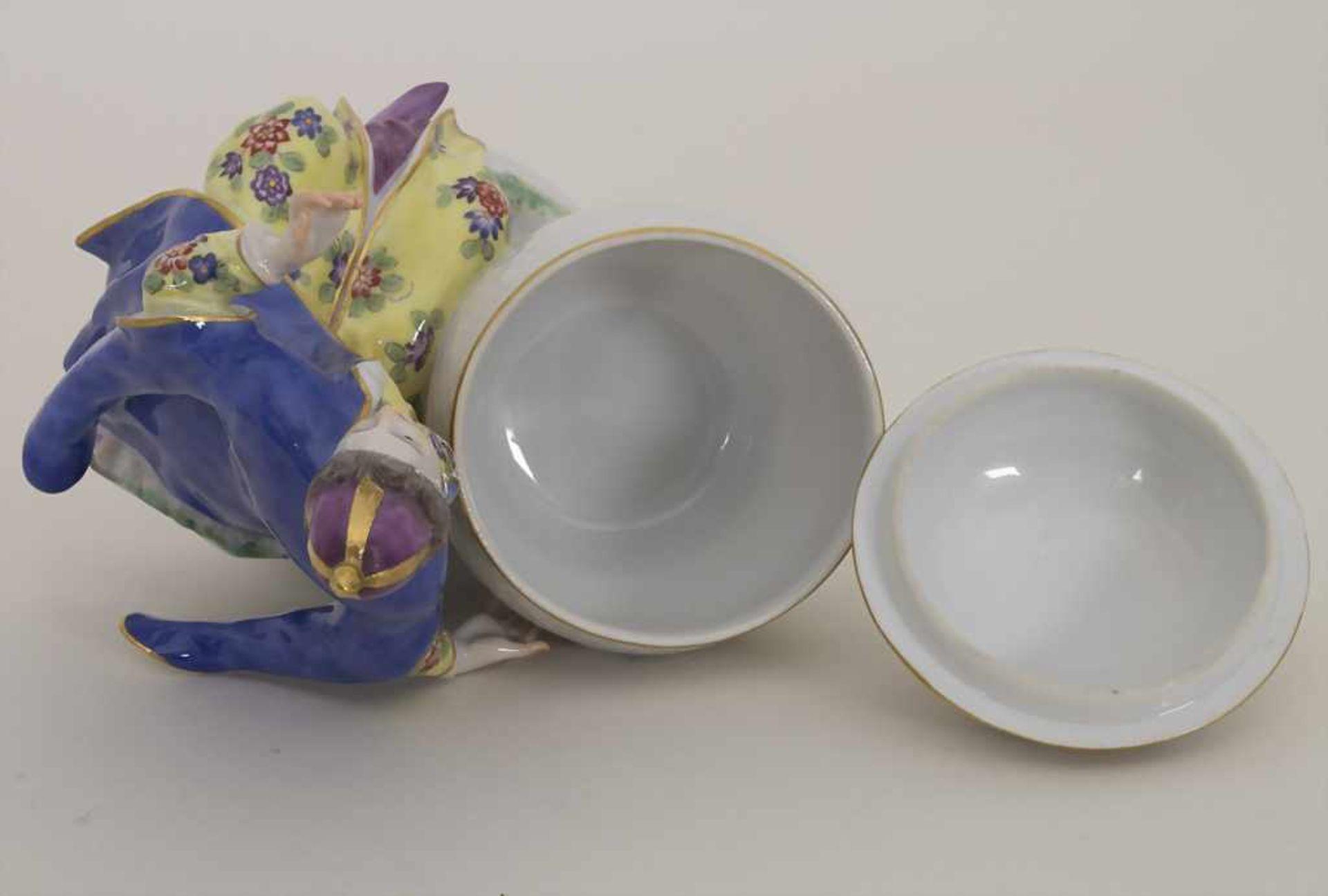Gegenständige Figur einer Türkin mit Schale / A Turkish woman with a bowl, Meissen, Pfeiffer-Zeit, - Bild 6 aus 11