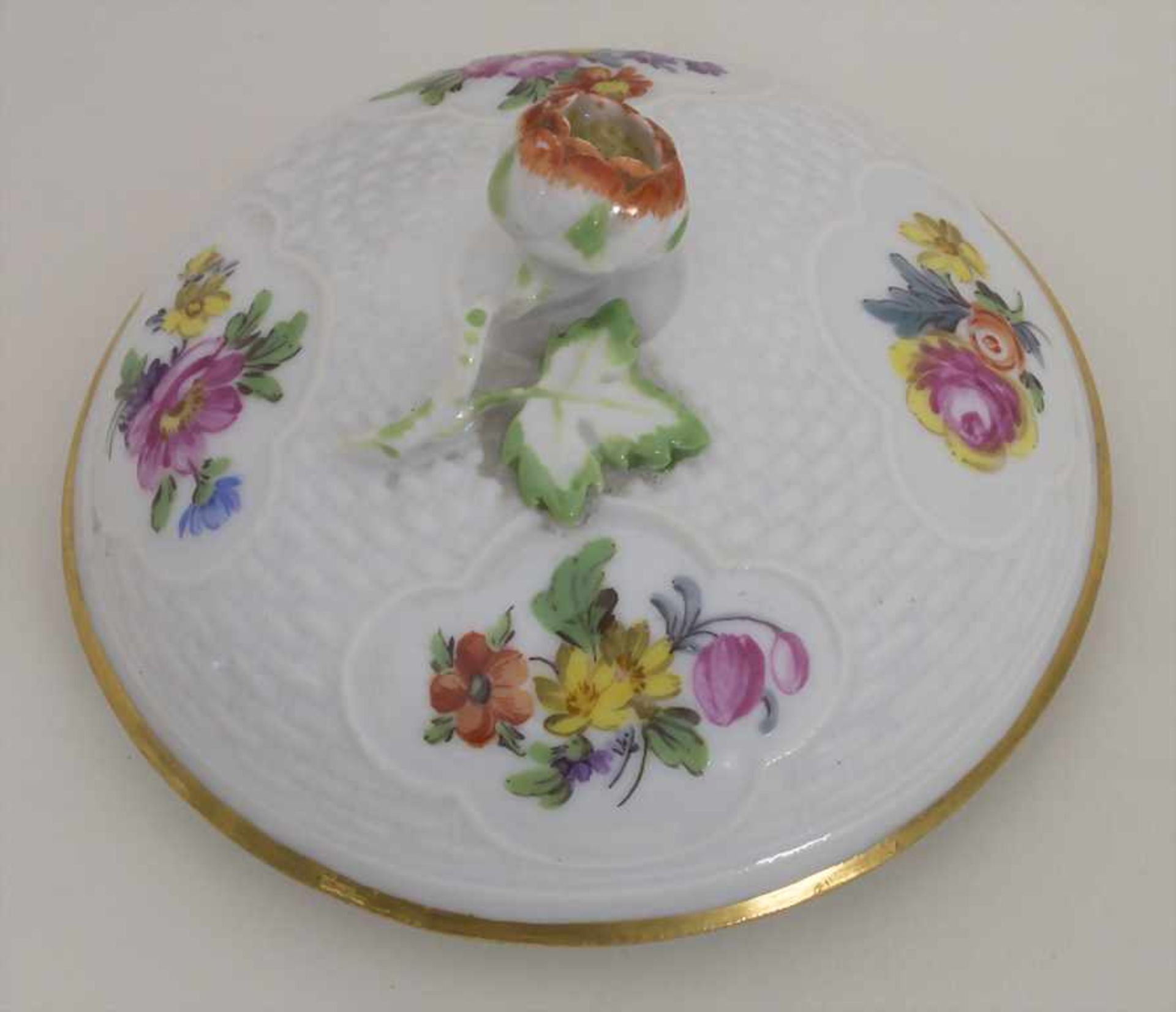 Gegenständige Figur einer Türkin mit Schale / A Turkish woman with a bowl, Meissen, Pfeiffer-Zeit, - Bild 7 aus 11