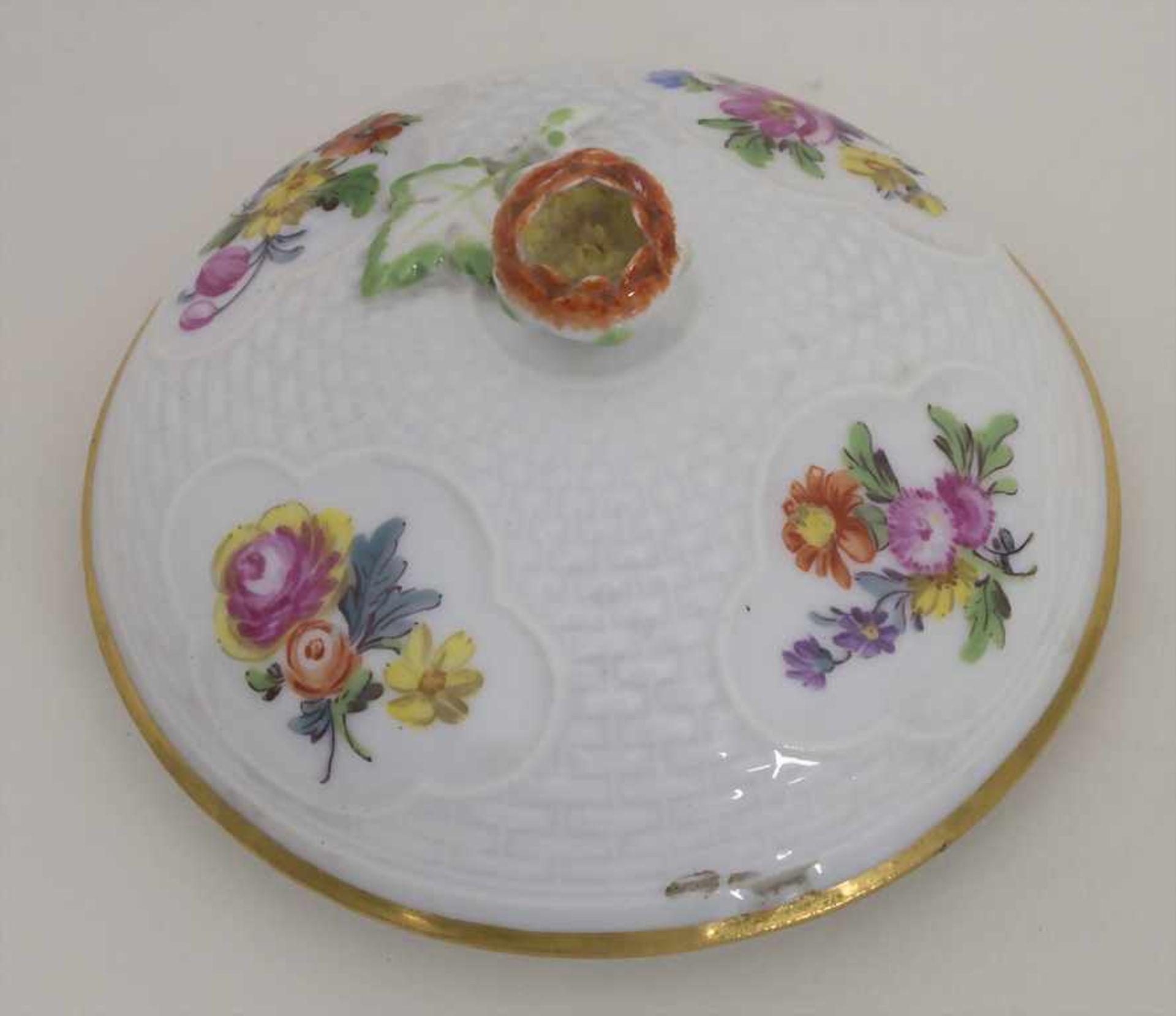 Gegenständige Figur einer Türkin mit Schale / A Turkish woman with a bowl, Meissen, Pfeiffer-Zeit, - Bild 8 aus 11