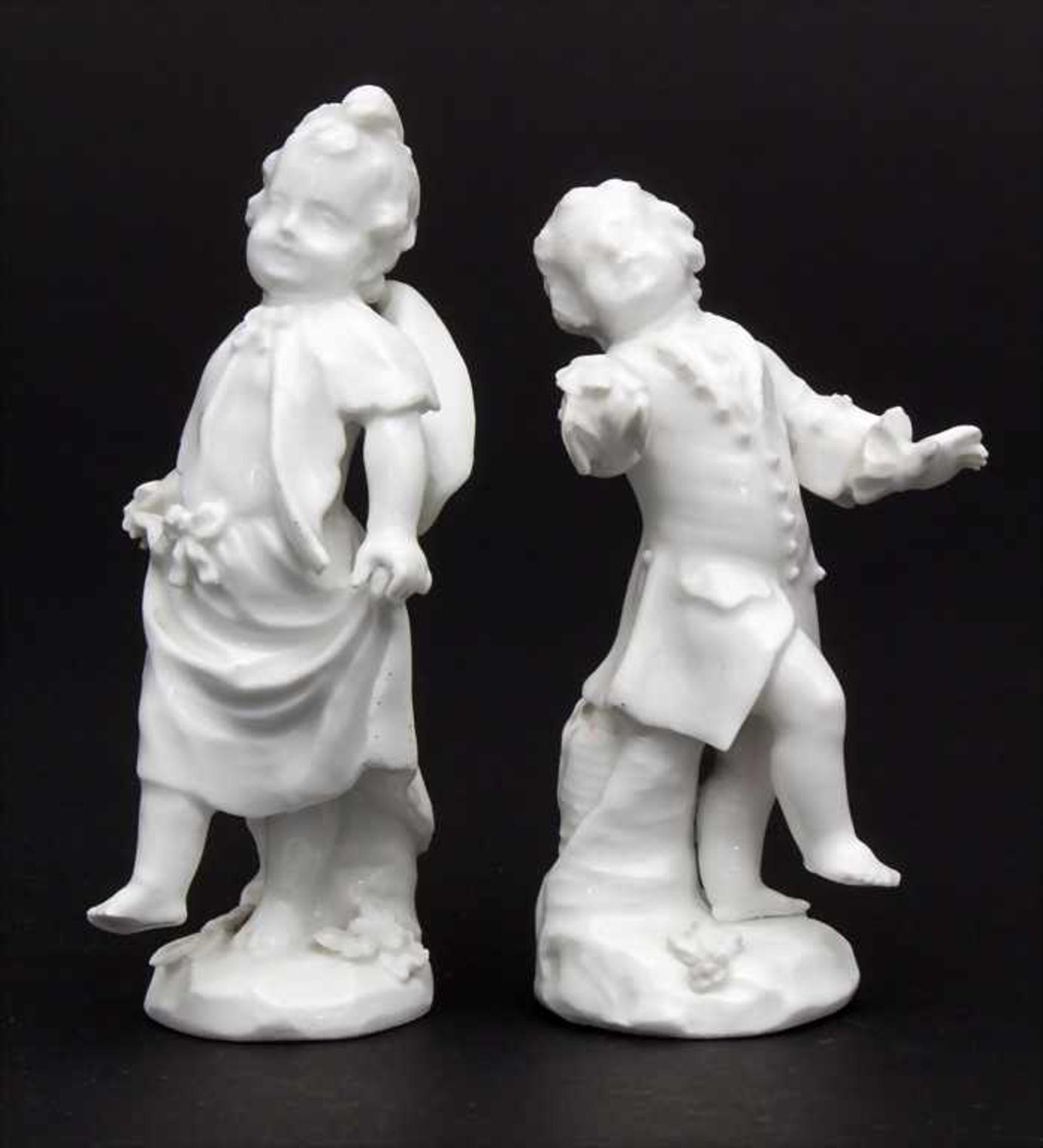 2 tanzende Kinder / A dancing boy and girl, wohl Michel Victor Acier, Meissen, um 1760