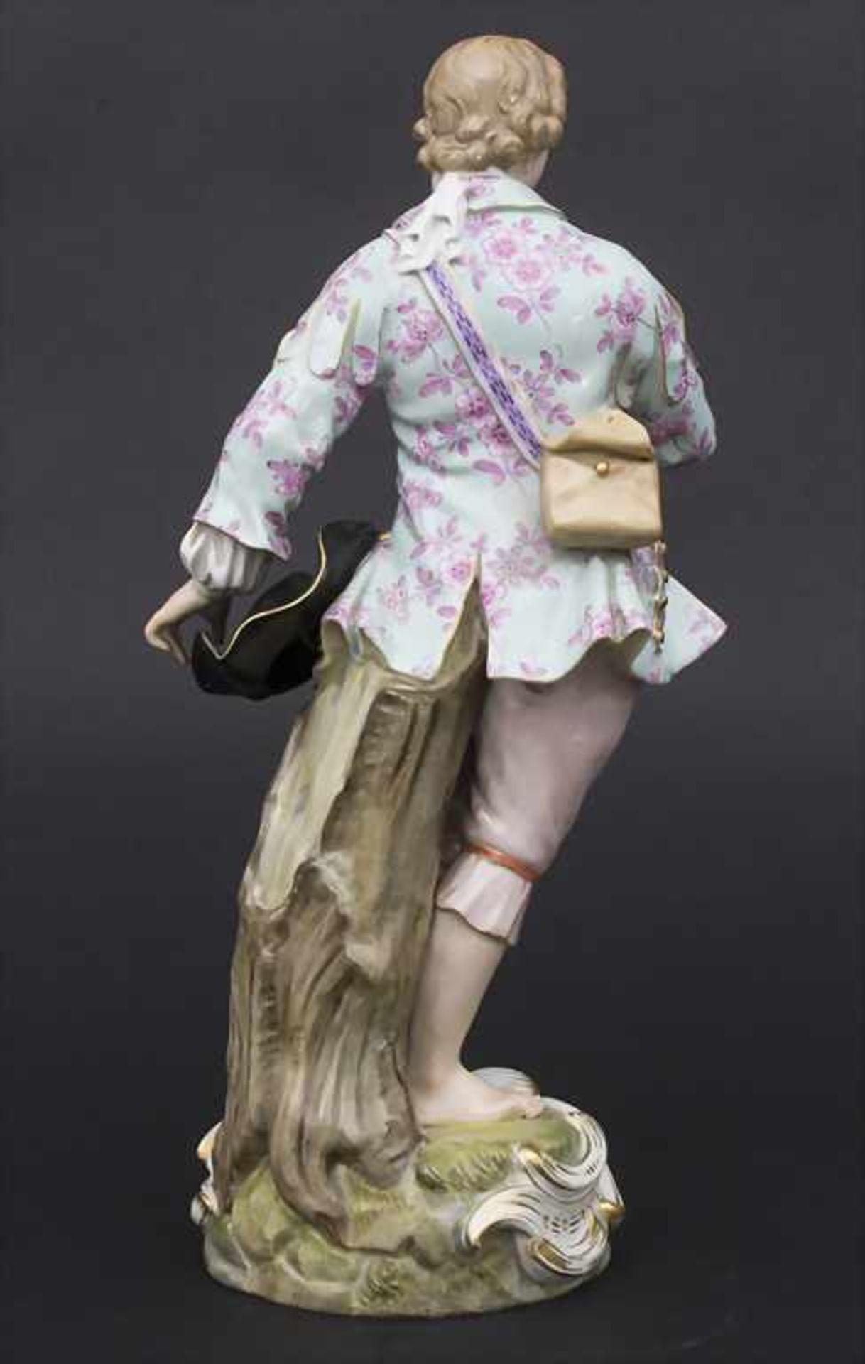Große Figur eines jungen Mannes mit Blumenstrauß / A large figure of a young man with flower - Bild 4 aus 8