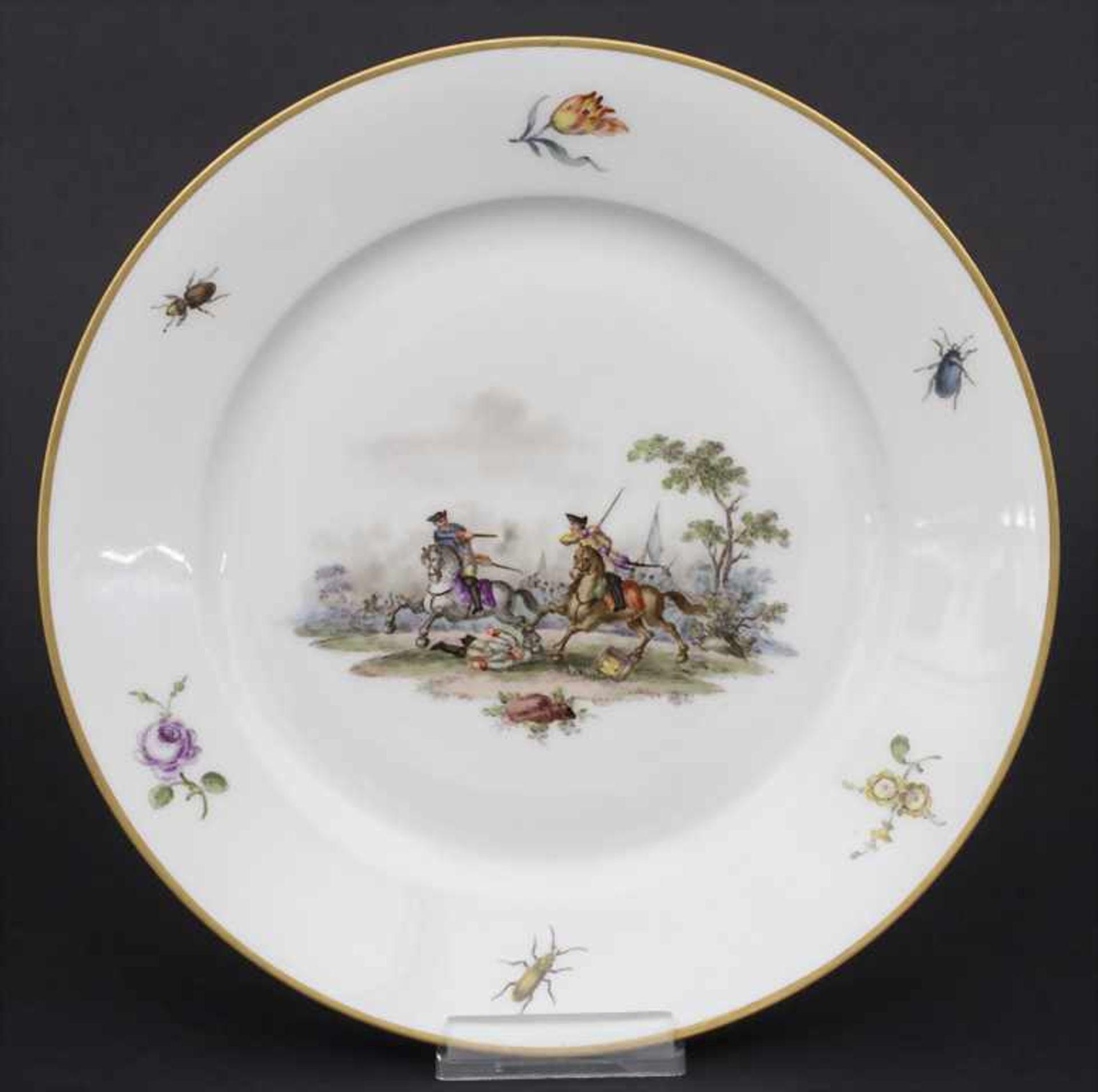 Paar Teller mit Schlachtenszenen / 2 plates with battle scenes, Sèvres, 1870 - Bild 11 aus 13