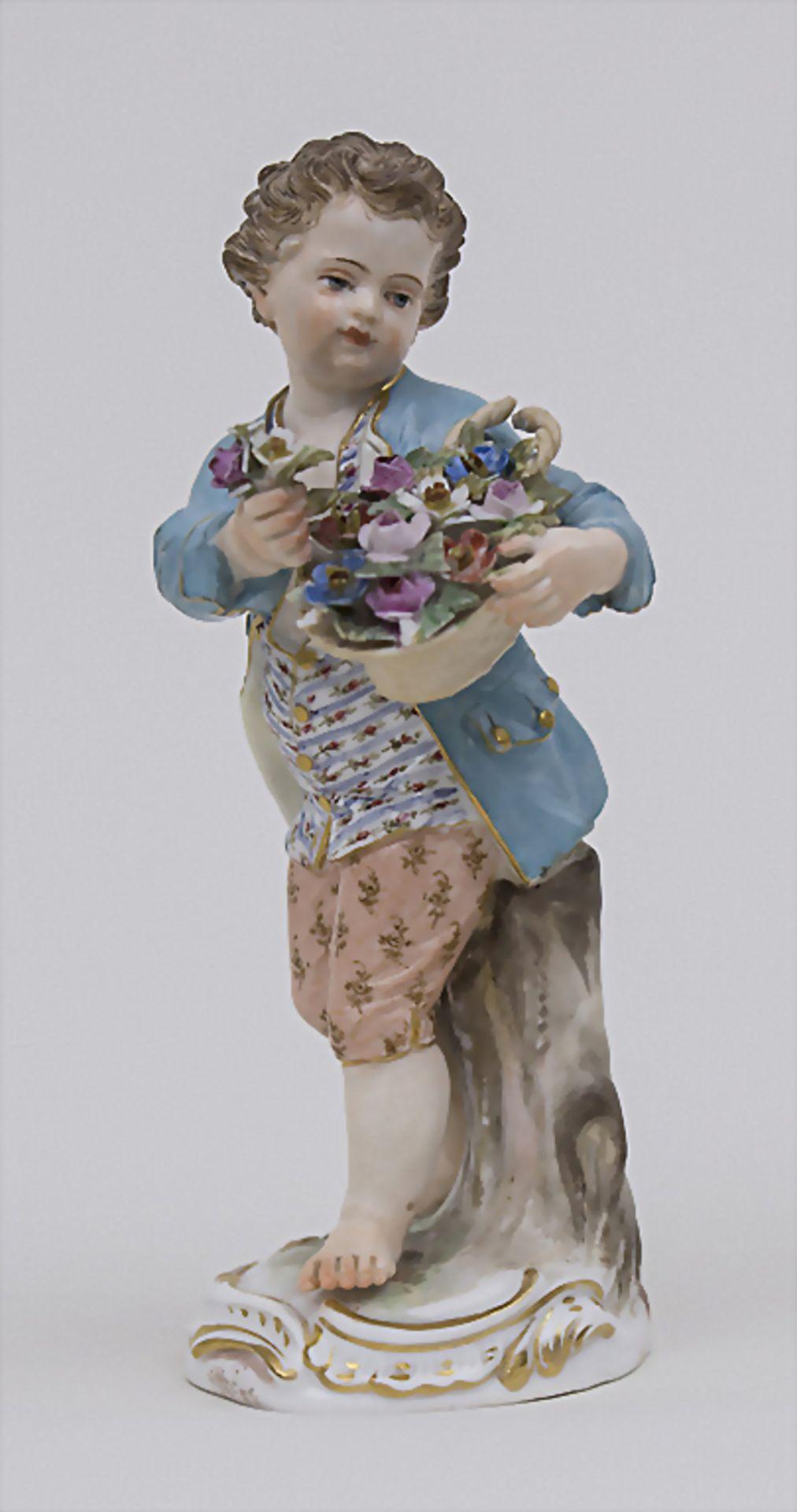 Gärtnerkind 'Junge mit Blumenkorb' / A gardener's child 'boy with flower basket', Meissen, Mitte 19.