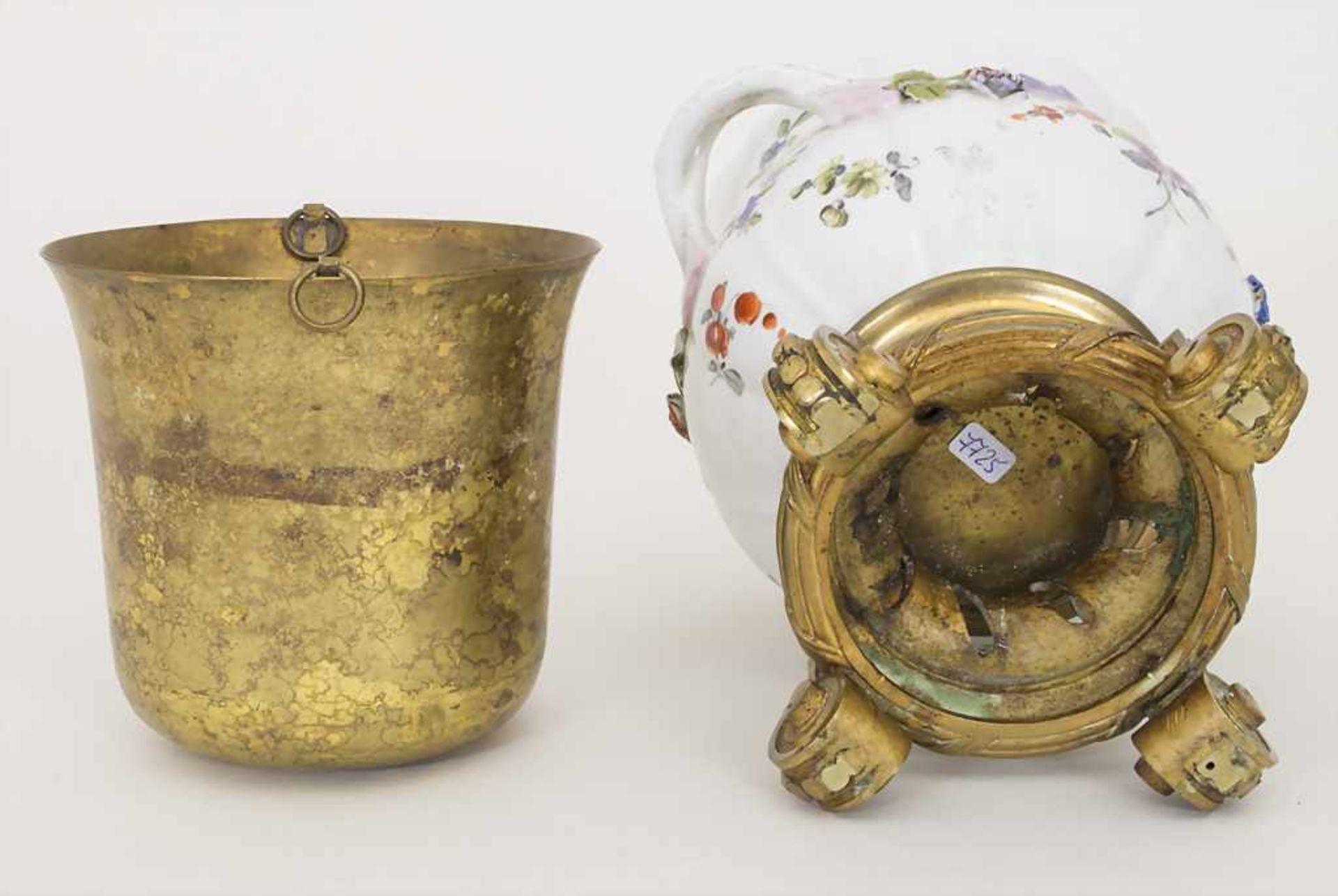 Cachepot mit Bronzemontur und Einsatz / A cachepot with bronze mount and insert, Helena Wolfsohn, - Bild 8 aus 8